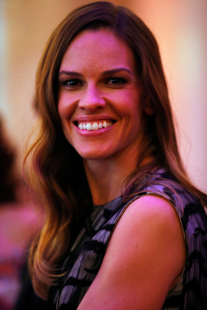 Hilary Swank at  the AIDS Solidarity Gala at Vienna's Hofburg Palace on May 25, 2013. (Photo by Getty Images)