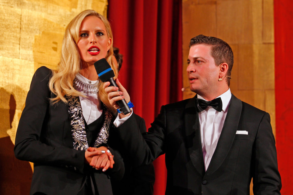 Karolina Kurkova speaks at the AIDS Solidarity Gala at Vienna's Hofburg Palace on May 16, 2015. (Photo by Getty Images)