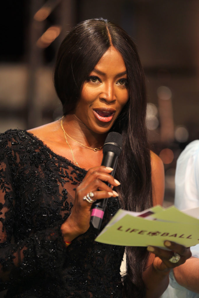 Naomi Campbell speaks at the LIFE+ Solidarity Gala 2017 at Vienna City Hall.(Photo by Getty Images)